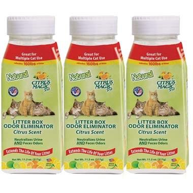Citrus Magic 616772167 Pet Litter Box Odor Eliminator