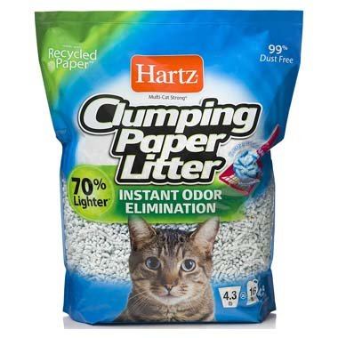 HARTZ 3270015558 Lightweight Recycled Clumping Paper Cat Litter
