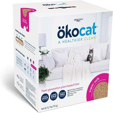 ökocat L0486 Natural Wood Clumping Cat Litter