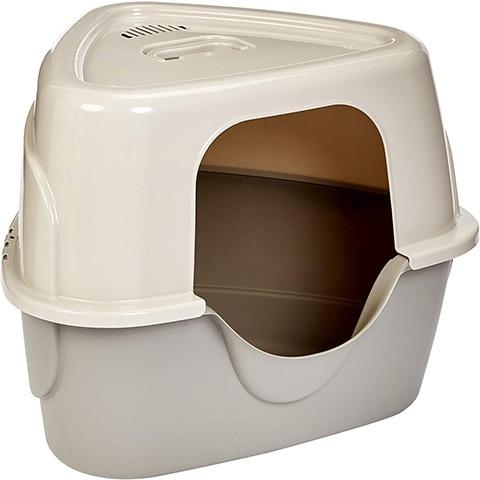 Hooded Cat Litter Box-AmazonBasics