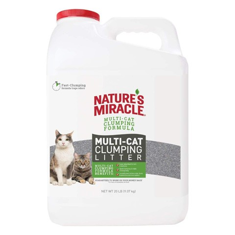 Nature's Miracle P-98139 Multi-Cat Clumping Clay Litter