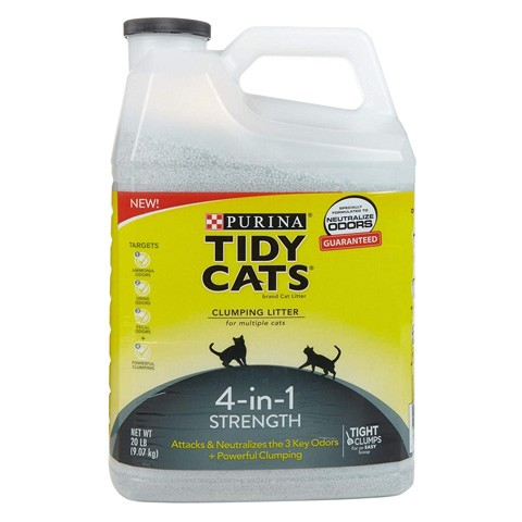 Purina 70230168931 Tidy Cats 4-in-1 Clumping Cat Litter