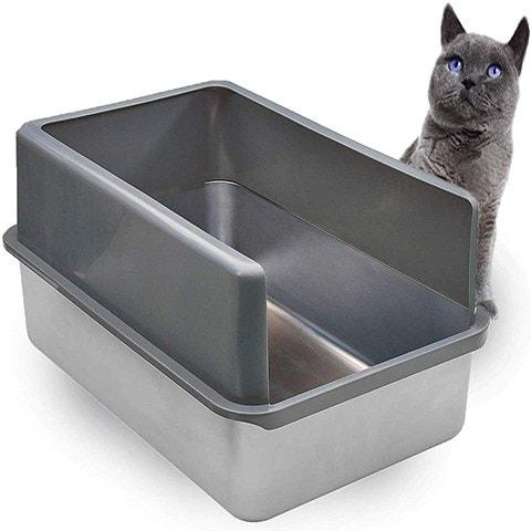 Stainless Steel XL Litter Box-iPrimio-Amazon