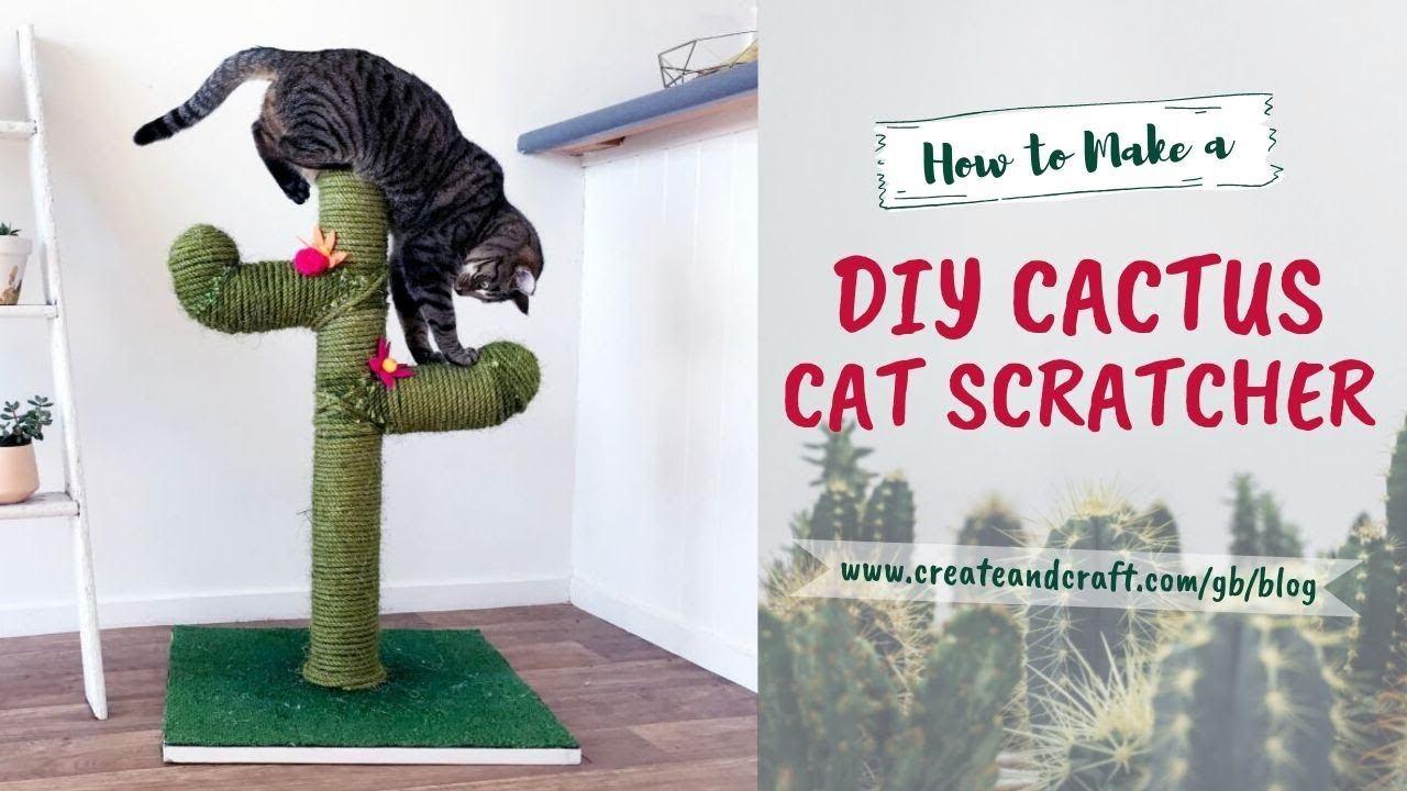 Cactus Cat Scratch Post by Create & Craft TV