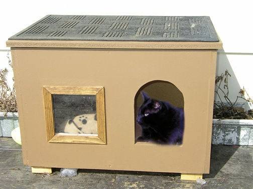 Cozy Wooden Cat House With Window by Instructables