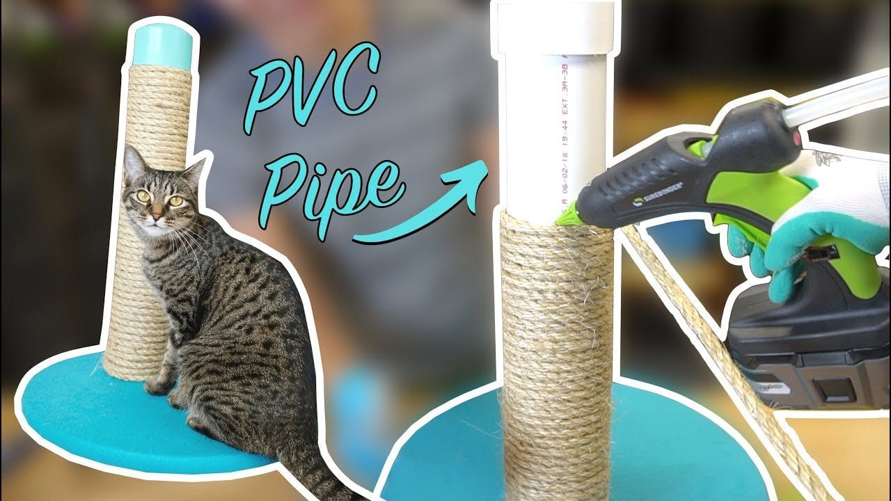 DIY PVC Scratching Post by DIY for Homeowners