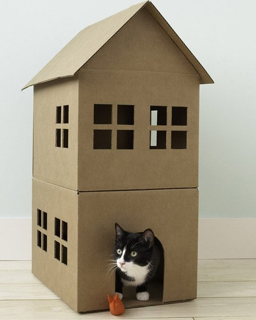 Double Storey Cardboard Cat House by Martha Stewart