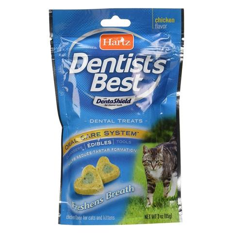 Hartz 3270012878 Dentist'S Best Dental Cat Treats