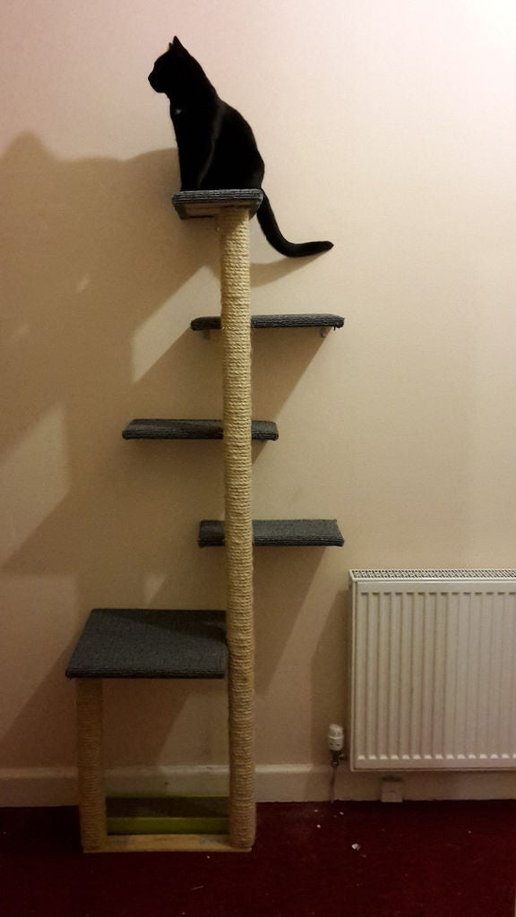 Instructables Wall-Mounted Cat Tree