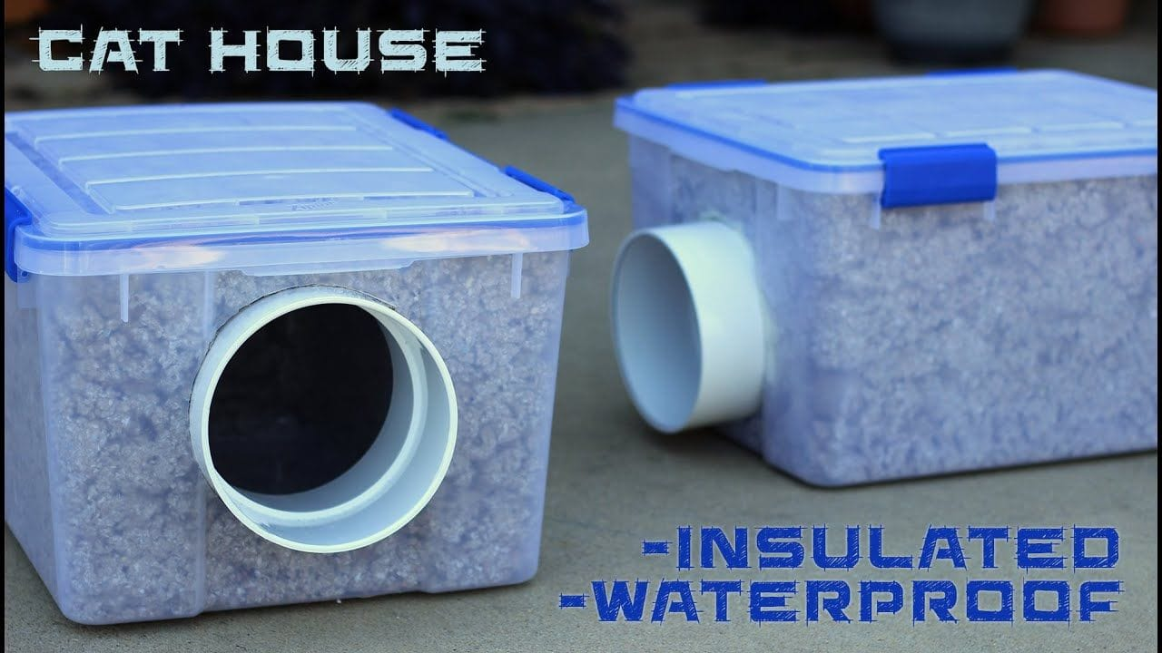 Insulated and Waterproof Cat House by What We Made