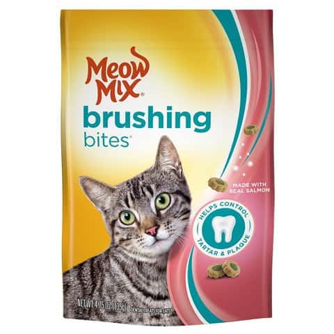 Meow Mix 829274533119 Brushing Bites Cat Dental Treats