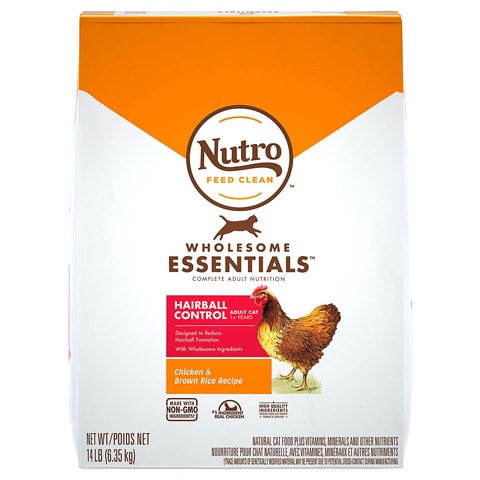 Nutro 10164617 Hairball Control Dry Cat Food
