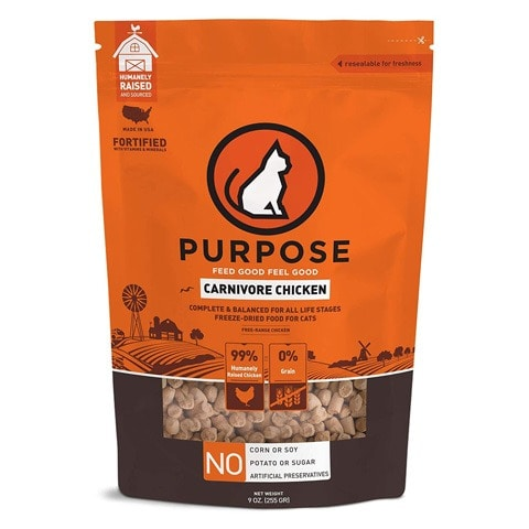 Purpose Freeze-Dried Chicken Morsels Cat Food