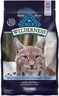 Blue Buffalo Wilderness Natural Mature Dry Cat Food