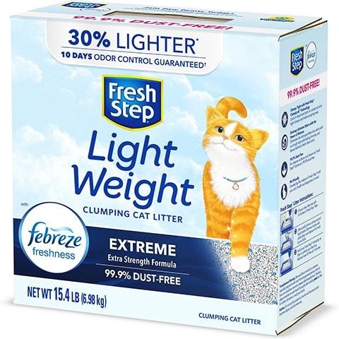 Fresh Step Lightweight Febreze Clay Cat Litter