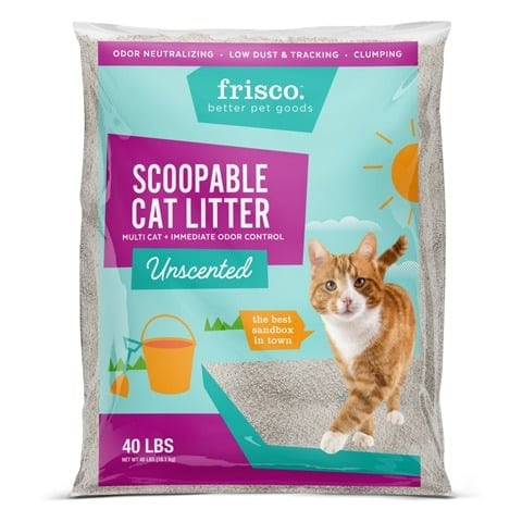Frisco Multi-Cat Unscented Clumping Cat Litter