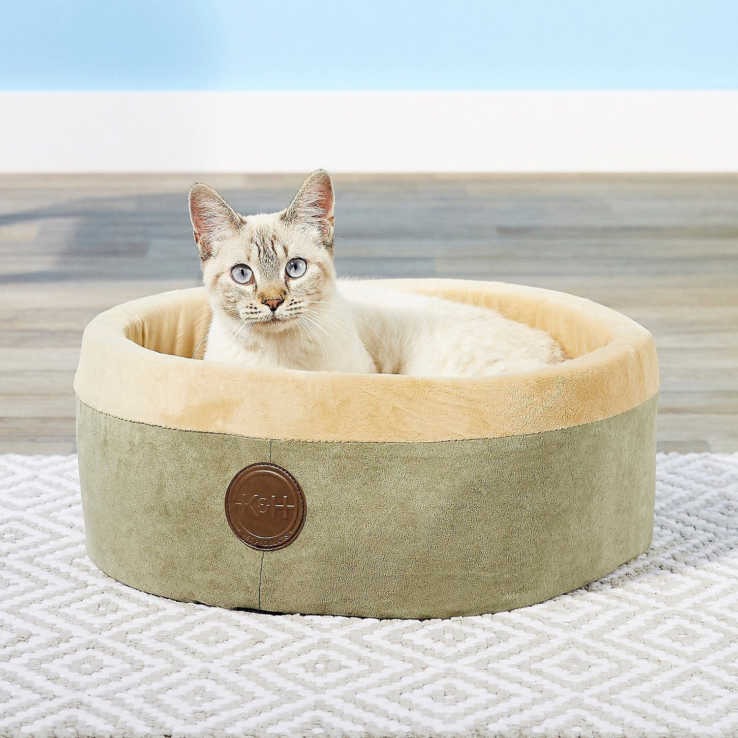 K&H Pet Products Thermo-Kitty Cat Bed-BG