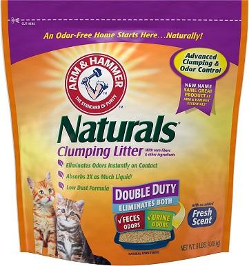 Arm & Hammer Litter Naturals Scented Clumping Corn Cat Litter, 9-lb bag