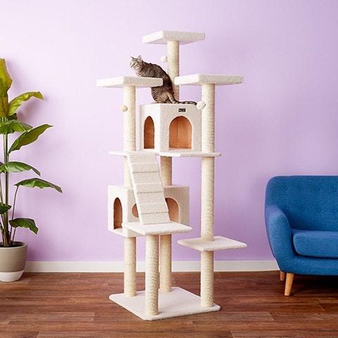 Armarkat 77-in Faux Fleece Cat Tree