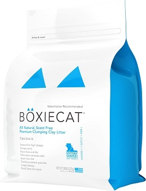 Boxiecat Premium Unscented Clumping Clay Cat Litter