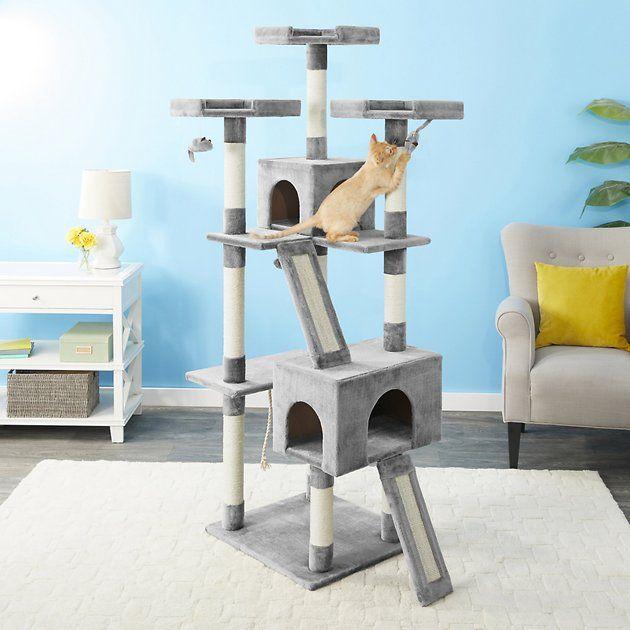 Frisco 72-in Faux Fur Cat Tree