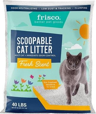 Frisco Multi-Cat Fresh Scented Clumping Clay Cat Litter