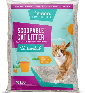 Frisco Multi-Cat Unscented Clumping Clay Cat Litter