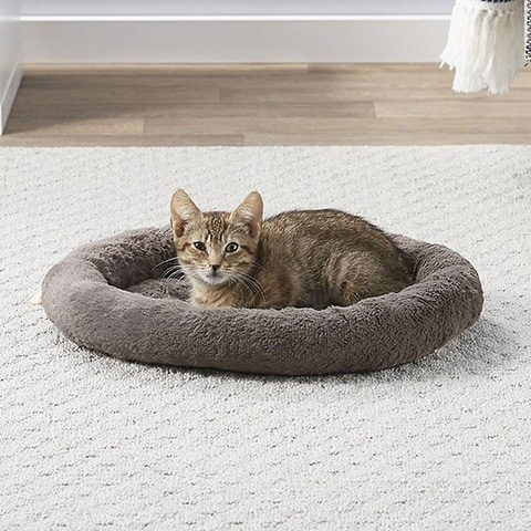Frisco Self Warming Bolster Round Cat Bed