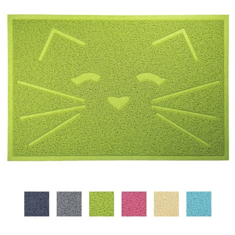 FurHaven Tiger Tough Tidy Paws Pet Food Mat