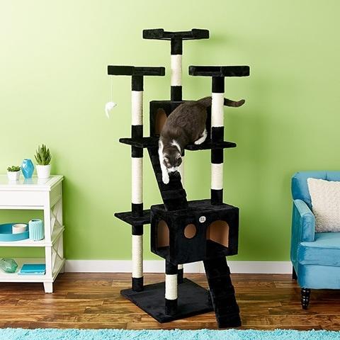 Go Pet Club 72-in Faux Fur Cat Tree