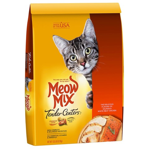 Meow Mix Tender Centers Salmon & White Meat Dry Cat Food