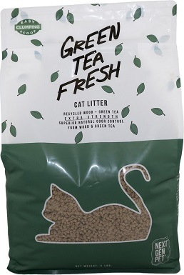 Next Gen Pet Products Pet Products Green Tea Unscented Clumping Wood Cat Litter