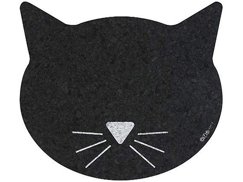ORE Pet Recycled Rubber Black Cat Mat
