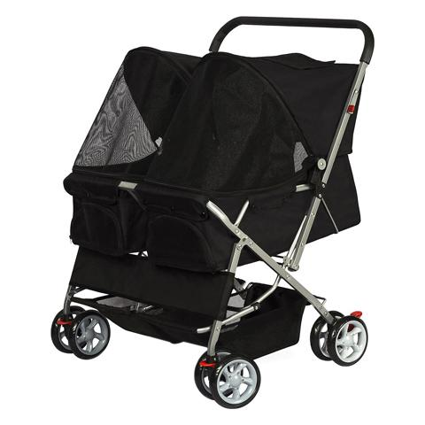 Paws & Pals Twin Double Folding Cat Stroller