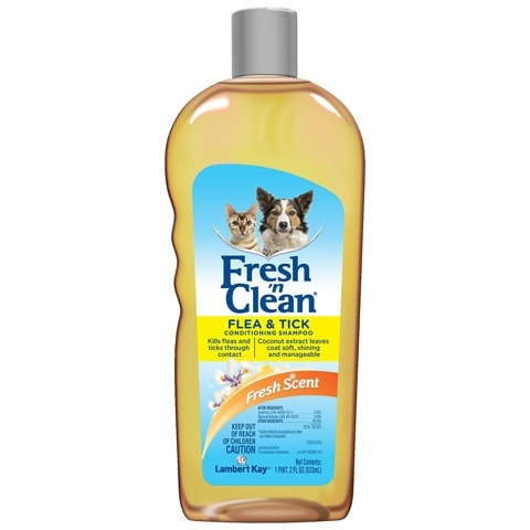 PetAg Fresh 'n Clean Flea & Tick Conditioning Dog & Cat Shampoo