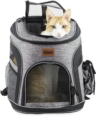 RETRO PUG Cat Carrier Backpack