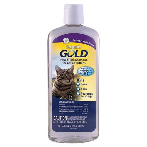 Sergeant's Gold Flea & Tick Cat Shampoo