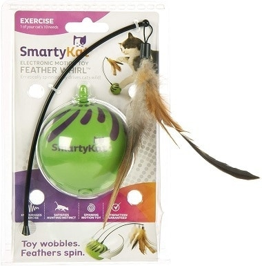 SmartyKat Feather Whirl Electronic Motion Cat Toy