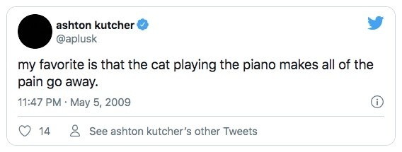 Ashton Kutcher's Tweet