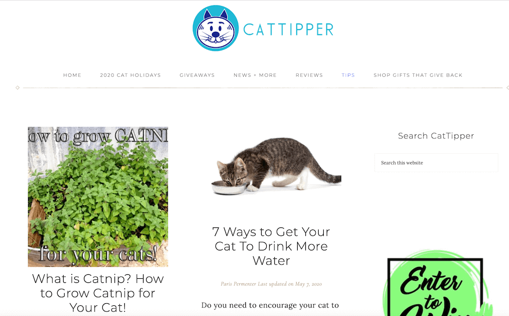 CatTipper cat blog
