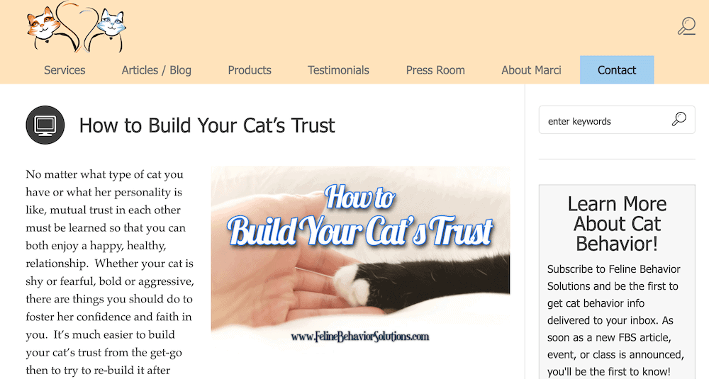 Feline Behavior Solutions blog