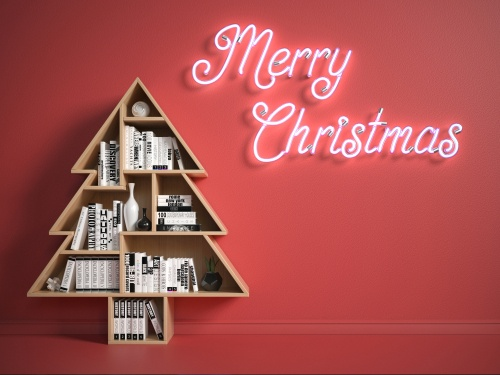 christmas treet shelf