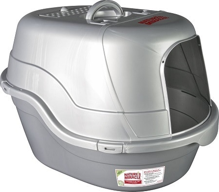 10Nature's Miracle Silver Oval Hooded Litter Box