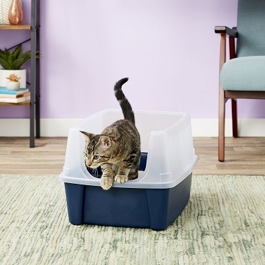 2IRIS Open Top Litter Box with Shield
