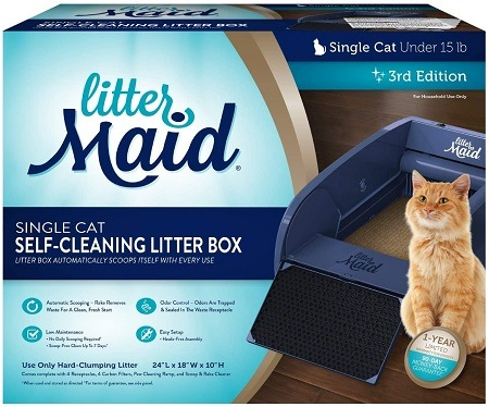 2LitterMaid Single Cat Self-Cleaning Litter Box