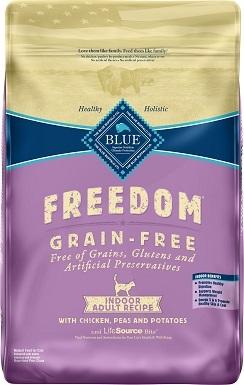 3Blue Buffalo Freedom Indoor Adult Chicken Recipe Grain-Free Dry Cat Food