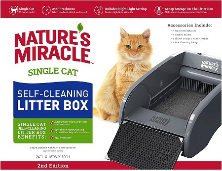 6Nature's Miracle Nature's Miracle Single-Cat Self-Cleaning Litter Box
