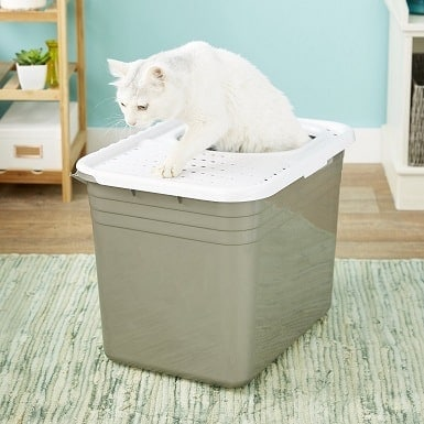 7Petmate Top Entry Litter Pan