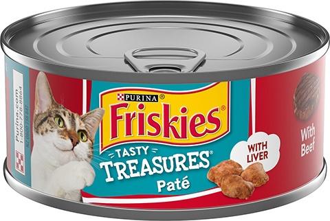 Friskies Tasty Treasures Pate Liver & Beef Wet Cat Food
