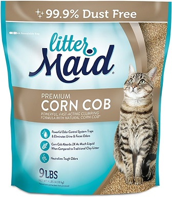 10LitterMaid Premium Scented Clumping Corn Cat Litter